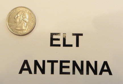 ELT ANTENNA Sticker